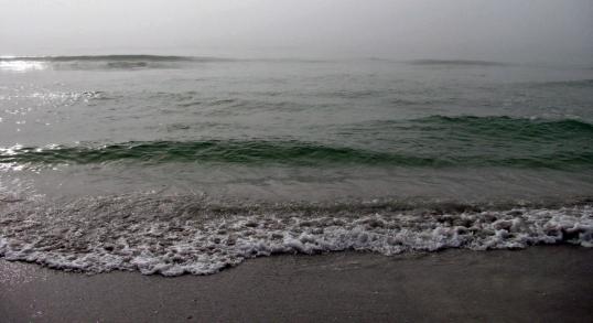 Ocean flowing in