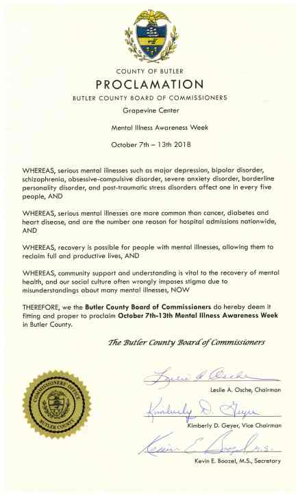 MH AWARENESS WEEK PROCLAMATION