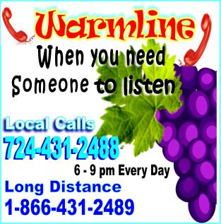 Warmline phone lines