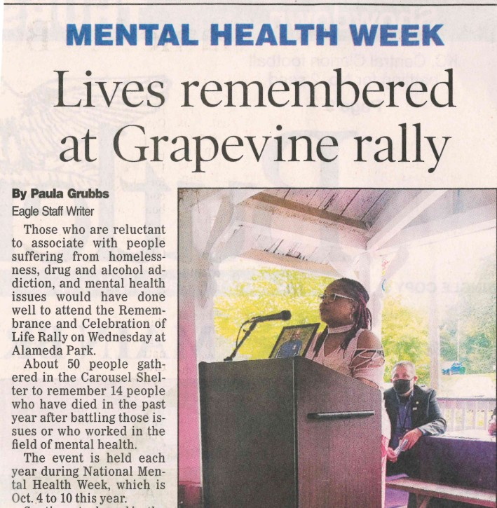Grapevine Center; Mental Illness Awareness Week; Mental Health Recovery; How did people celebrate Mental Awareness Week?